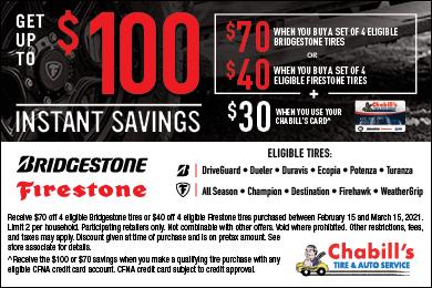 Bridgestone & Firestone Instant Savings